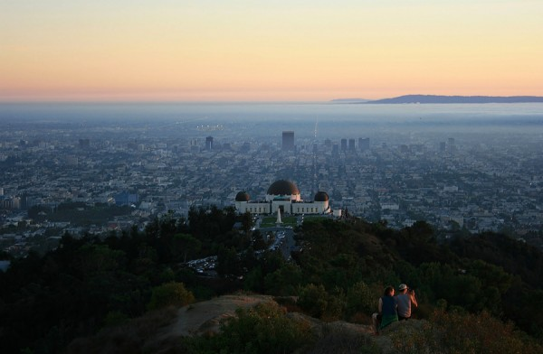 View of the Griffith Observatory from Atop Griffith Park