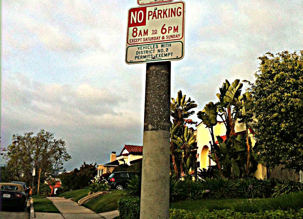 Typical Neighborhood Parking Signs