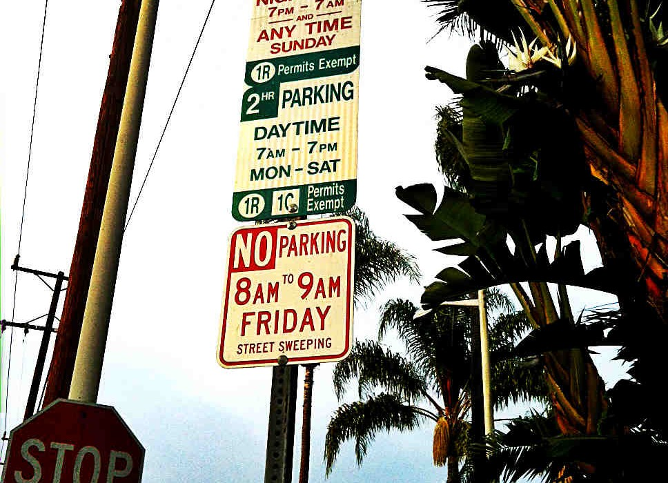 Complicated Parking Sign in Beverly Hills